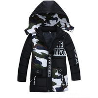 2019 New Children's Clothing Boys Fashion Parka Coats Kids Clothes Winter Jackets Down Jacket For Girl Long Style