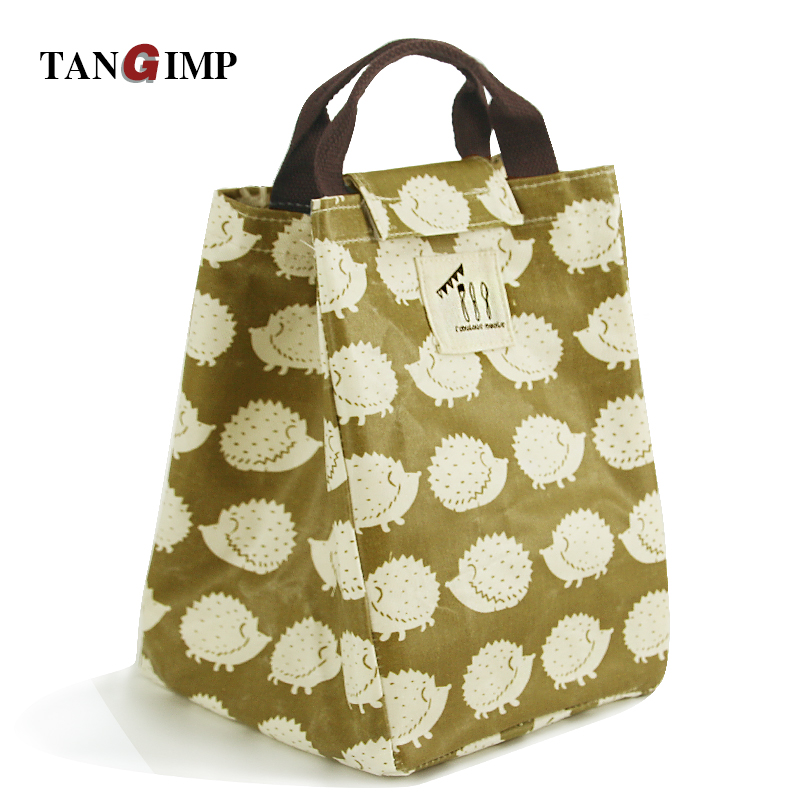 TANGIMP Picnic Cooler Bags Bear Cold Insulated Lunch Bag for Women Water Resistant Cotton Girls Thermal Insulated Bag for Kids