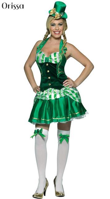 Shamrock St Patrick Oktoberfest Green Irish Beer Lucky Leprechaun German Costume Shamrock Sweetheart Costumes  sc 1 st  AliExpress.com & Shamrock St Patrick Oktoberfest Green Irish Beer Lucky Leprechaun ...