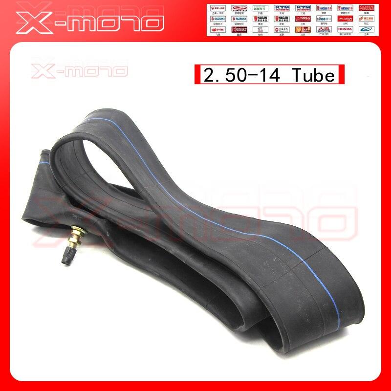 Heavy duty dirt bike inner tube 60/100-14 2.50-14 Cheap tyre tube for 14 inch pit bike front wheel Off road motocycle rim