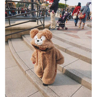 Spring Autumn Baby Clothes Flannel Baby Boys Clothes Cartoon Animal Jumpsuits Infant Girl Rompers Baby Bodysuits