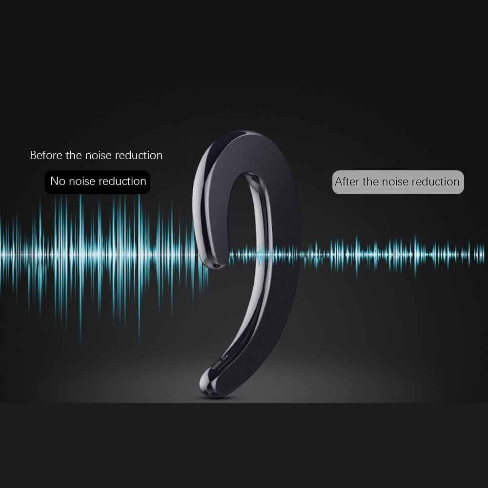 TCG bezprzewodowe słuchawki Bluetooth słuchawki zaczep na ucho bezbolesne zestaw słuchawkowy do iPhone'a Xiaomi Samsung przewodnictwa kostnego słuchawki Bluetooth