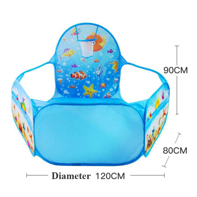 Spielzeug Tunnel Zelt Ozean Serie Cartoon Spiel Big Raum Ball Gruben Tragbare Pool Faltbare Kinder Outdoor Sports Pädagogisches Spielzeug