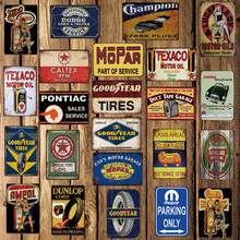 [Mike86] 모터 오일 TEXACO ESSO 틴 로그인 빈티지 호텔 펍 레트로 벽화 철 그림 아트 포스터 아트 20*30 CM LT 1730