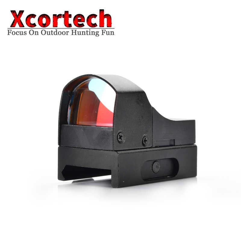 Tactische Jacht 1X Mini Red Dot Scope Holografische Riflescope Micro Reflex Red Dot Sight Optics Scope Voor Airsoft