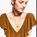 Dvacaman Marca 2017 Nueva Moda de Tela de Las Mujeres Collar de Gargantilla de Oro Chapado Maxi Collar de Flores Declaración Accesorios de La Joyería S24