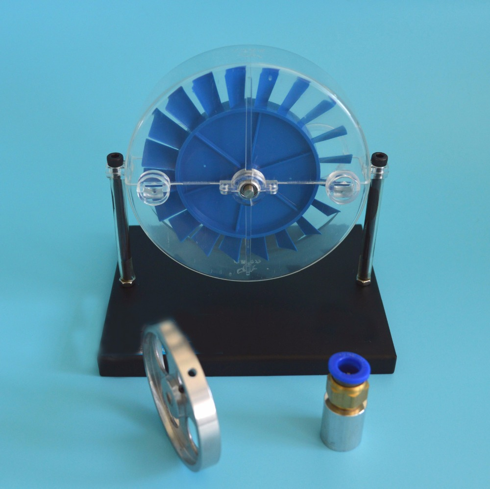 Single stage steam turbine model High school physics standard configuration laboratory demonstration instrument Science toy clock table model teacher demonstration with primary school mathematics science and education equipment three needle linkage