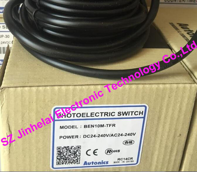 New and original  BEN10M-TFR    AUTONICS    PHOTOELECTRIC SWITCH   DC24-240V/AC24-240V 100% new and original fotek photoelectric switch a3g 4mx mr 1 free power photo sensor