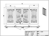 Żelazne drzwi 31 kute żelazne drzwi 8mm jasne szkło + 12 skrajni stali + 8mm deszcz szkło naprawiono wysyłka USA adres domowy 4500 dolarów
