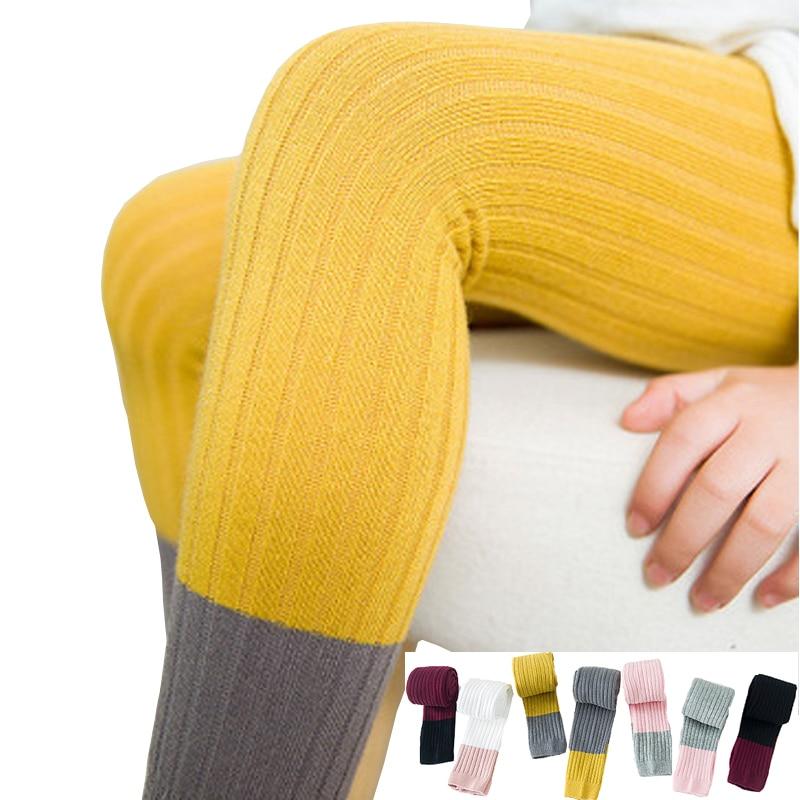 2020 Spring Girls Leggings Cotton Kids Leggings High Elastic Pitching Color Leggings Baby Skinny Pants Children Leggings