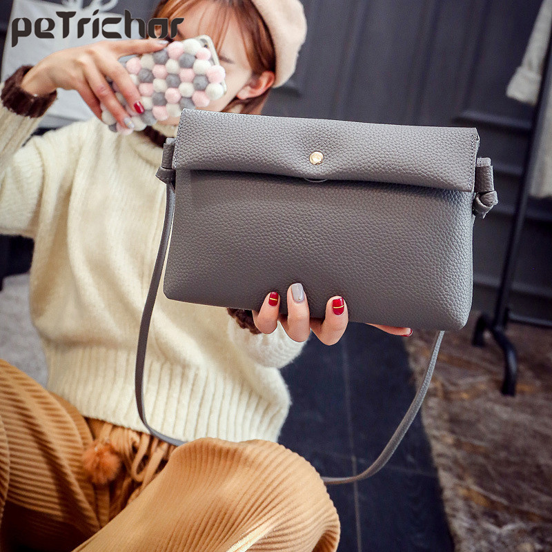 New Design Women Handbag Hasp Shoulder&Crossbody Bags PU Leather Fashion Soft Female Day Clutches Solid Phone Pocket Ladies Bag