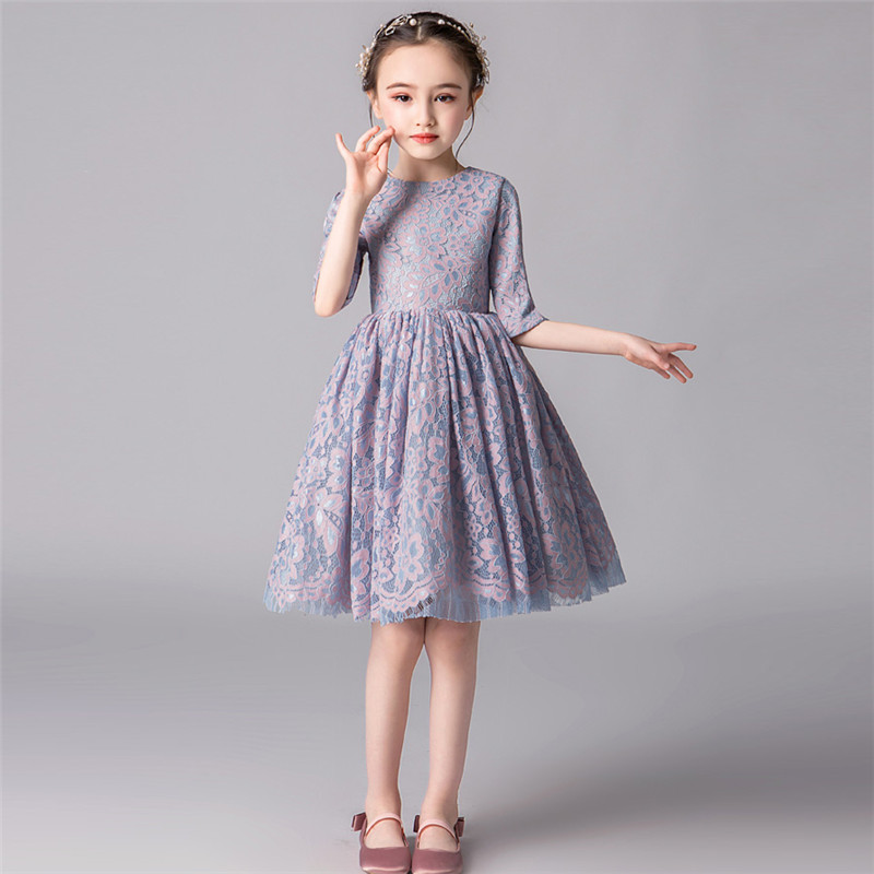 Children Girls Spring Summer Half-Sleeves Lace Evening Party Short Dress Toddler Kids Wedding Tutu Pageant Princess Prom DressChildren Girls Spring Summer Half-Sleeves Lace Evening Party Short Dress Toddler Kids Wedding Tutu Pageant Princess Prom Dress