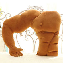 1Pcs Funny Muscle Boyfriend Arm Soft Throw Pillows Body Hug Girlfriend Cushion Pillow