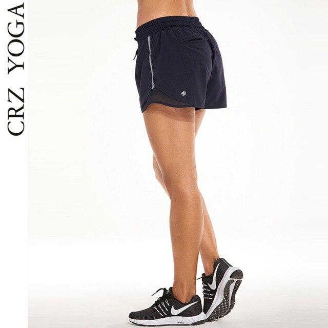 CRZ YOGA Women s Drawstring Waist Fitness Athletic Shorts with Pocket 294ffa727e