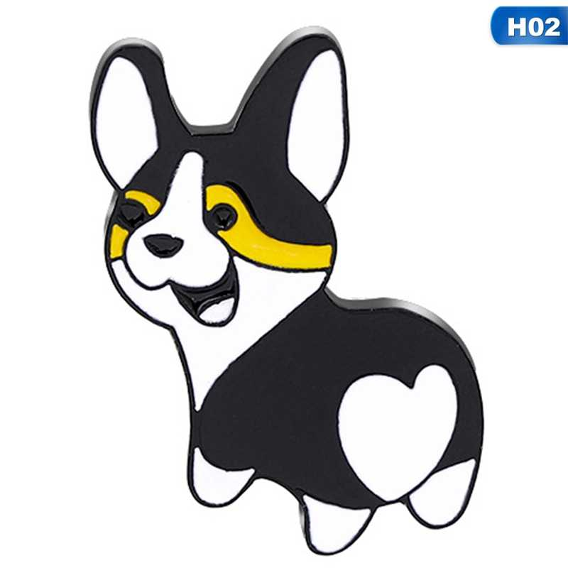 dfhdrtj S/éduisant Mignon Cartoon Animal Broches Corgi Femmes Broche /Émail Broches Chapeau V/êtements D/écor