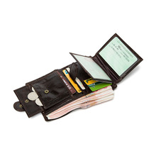 Wholesale New Real Leather Wallet Organizer Femal Wallets Vintage Genuine purses& Short Mens Coin Pocket