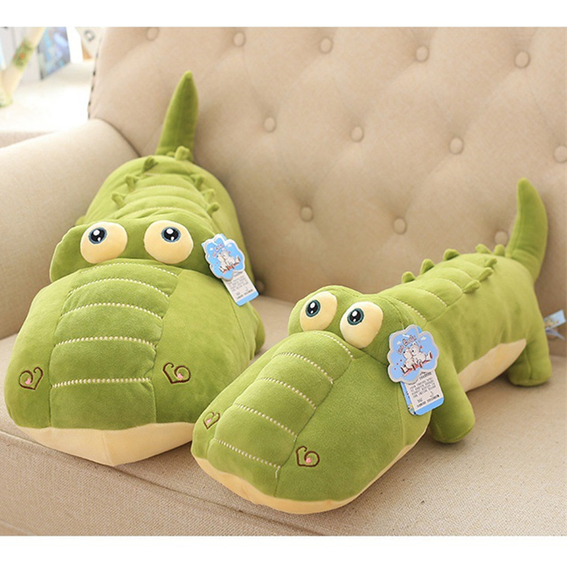 large 70cm stuffed animals crocodile plush toys kawaii crocodile pillow plush toys cute animal dolls for kids birthday gift cute animals figure dolls finger puppets plush toys 10 pcs