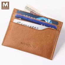 MONOLETH Vintage echtem leder brieftasche für männer cowboy top leder thin kartenhalter ID Kartenhalter Geldbörse 1005
