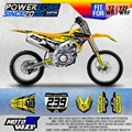 Custom Team Graphics Backgrounds Decals 3M Sticker For YZ250F YZ450F YZF250 450 Yellow Version Motorcylce Dirt Bike MX Racing