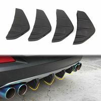 BBQ@FUKA 4pcs Universal Black Promotion Car Rear Bumper Diffuser Scratch Protector Trim for bmw e36 focus 2 audi a3 toyota