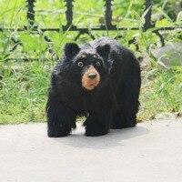 Большой моделирования черный медведь игрушка полиэтилен и меха милый медведь модель куклы около 48x30 см 2501