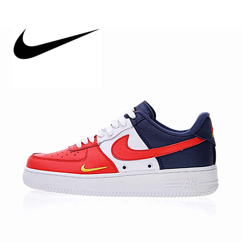 f3a447ca8 Original Authentic Nike Air Force 1 Low Mini Swoosh Men's Skateboarding  Shoes Sport Outdoor Sneakers 2018