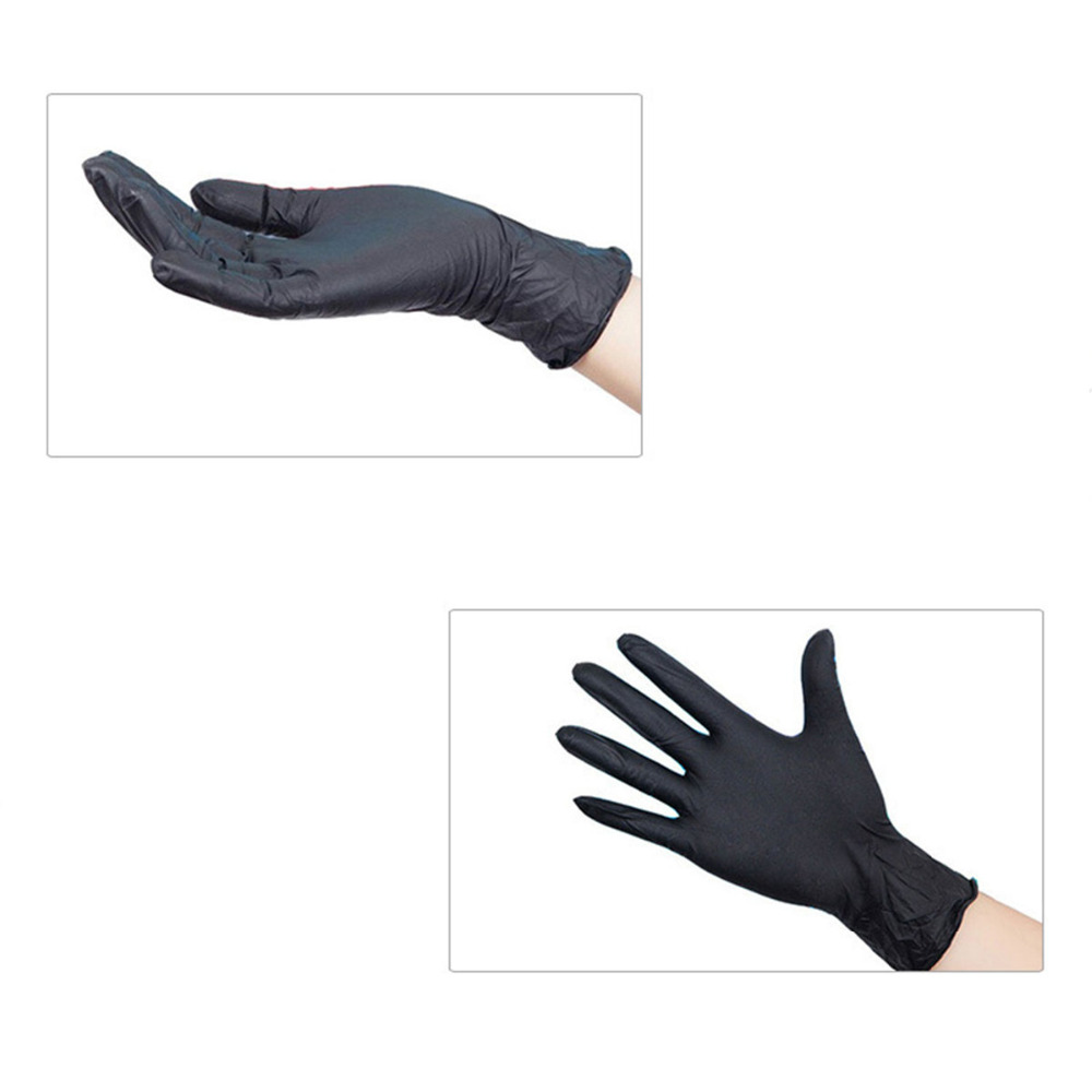 50 Pairs Small Latex Tattoo Gloves Disposable Soft Black Medical Nitrile Sterile Tattoo Gloves Tattoo Accessories fwpp disposable nitrile gloves medical grade powder free latex free disposable non sterile food safe s m l black 50 pcs