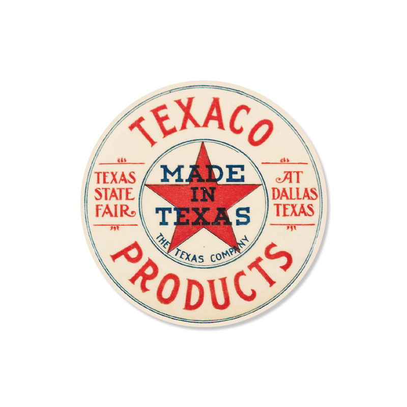 30cm Round Texaco Products Metal Tin Signs Home Art Decor Iron Poster Home Decorative Retro Wall Art for Bar Pub or Gas station