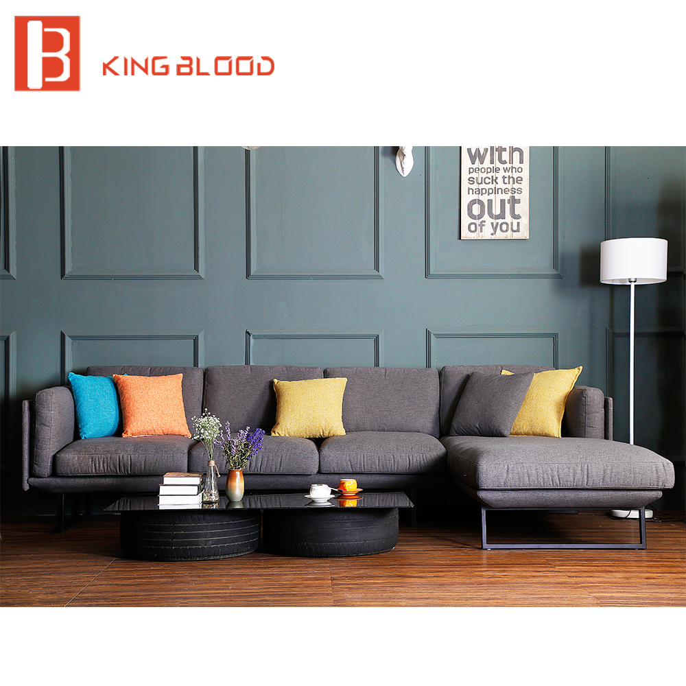 Fabric Modern Corner Sofa Set
