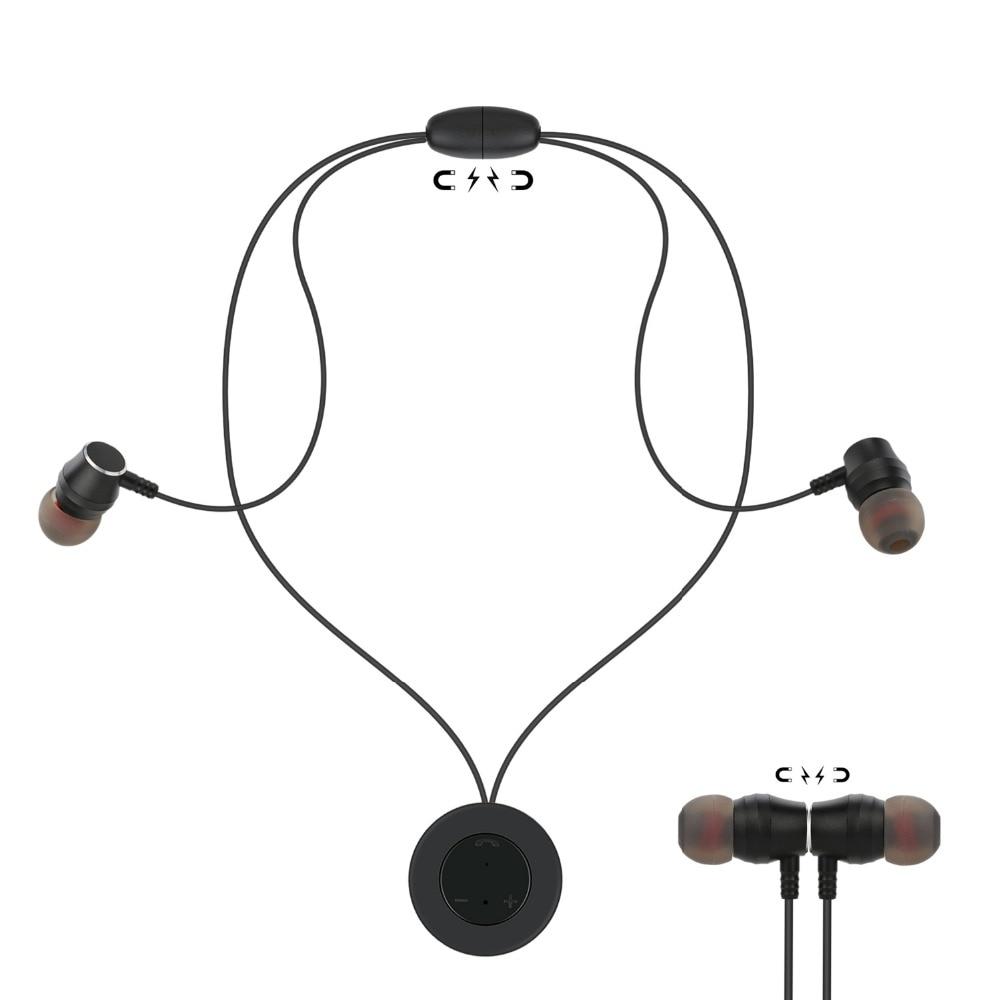 Zienstar bluetooth headphones wireless headphone sports Magnetic bass bluetooth earphone with mic for phone iPhone xiaomi