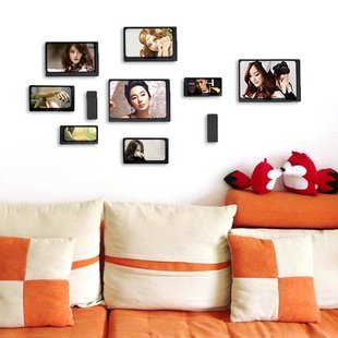 2014 HOT wood photo wall adornment picture frame combination 1set(10 different frames)free shipping