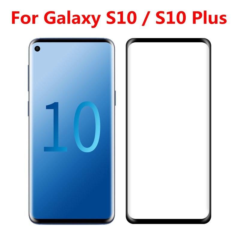 2 шт 3D изогнутое закаленное стекло для Samsung Galaxy S10 полное покрытие экрана Защитная пленка для Samsung Galaxy S10 Plus S10 + Защитные стёкла и плёнки      АлиЭкспресс