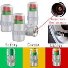 Universal 2.4Bar 30 PSI Motorcycle Car Auto Tire Pressure Monitor Valve Stem Caps Sensor Indicator Eye Alert Diagnostic Tools