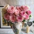 Flores artificiais flor de seda queda europeu vivid peony folha falso partido casa casamento decoração 7 cabeças peônia presente chrismas