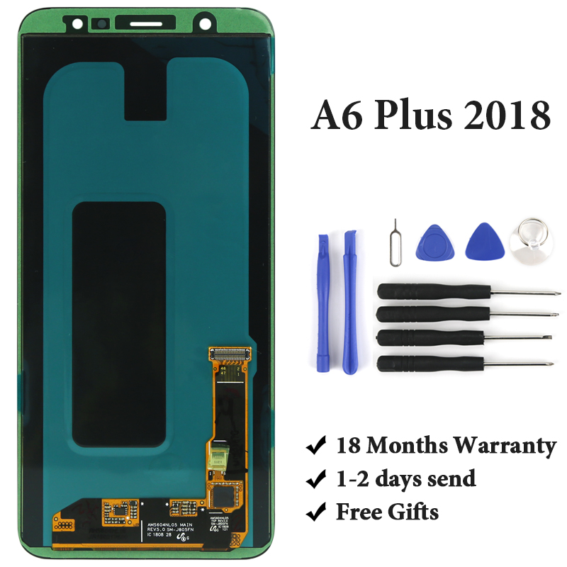 For Samsung Galaxy A6 Plus 2018 A605 A605F LCD Display 6 2220x1080 Original No Dead Pixel