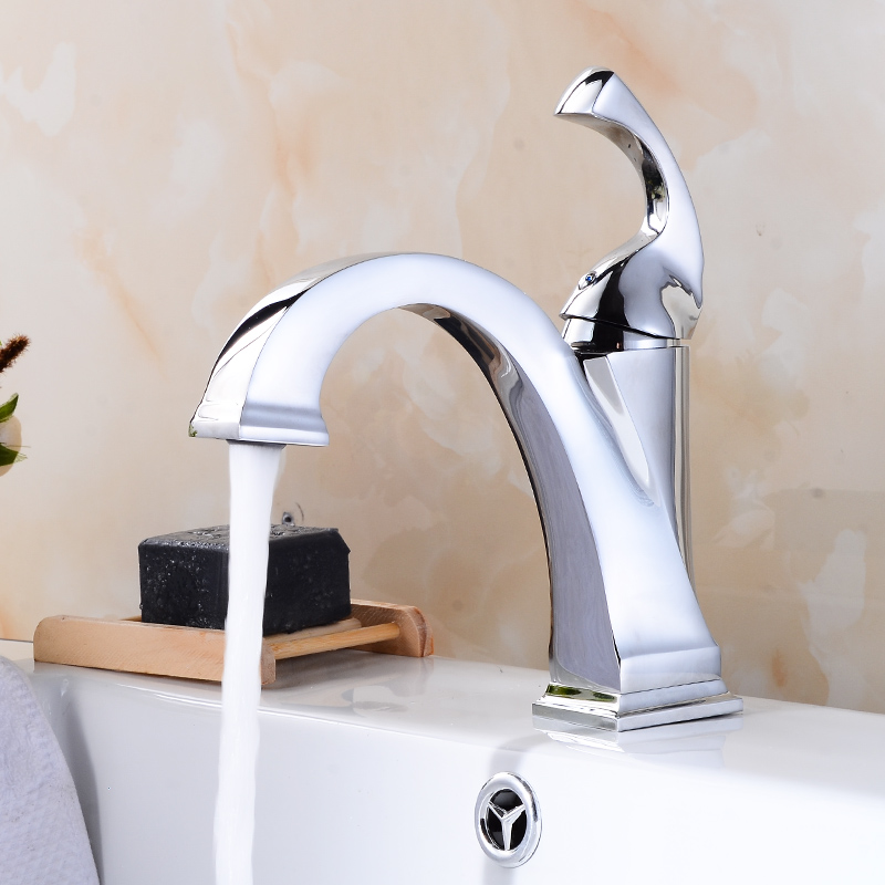 FLG Bathroom Mixer Tap Chrome Oil Rubbed Bronze Color Brass Faucet Single Handle Sink Bath Mixer Taps Hot And Cold Basin Faucet in Basin Faucets from Home Improvement
