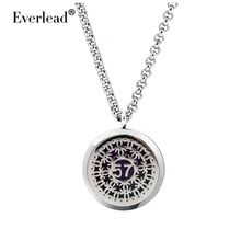 30mm 316L Stainless Steel locket Pendant Essential Oil Diffuser can open Magnetic locket with free chain and pads
