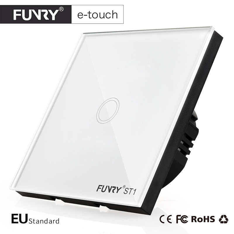 FUNRY ST1 EU Standard 1-Gang Wall Switch, Smart HomeTouch On/OFF Switch, Home Light Switch (170v-240v)