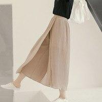 Youg 2018 Estate Cachi Nero Rosa Allentato Casuale A Vita Alta Gamba Larga Donne Pantaloni Per Trasporto Libero All'ingrosso Delle Signore Pantaloni