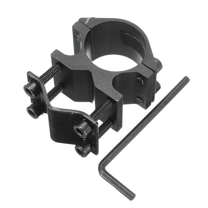 1 Inch/25.4mm Flashlight Mount Scope Ring Mount Holder With 10-21mm Barrel Clamp Adapter Aluminum Alloy Flashlight Holder