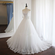 Liyuke Vintage Appliques A-Line Wedding Dresses With