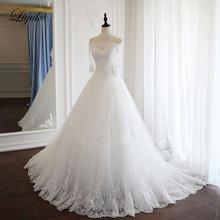 Liyuke Vintage Appliques A-Line Wedding Dresses With