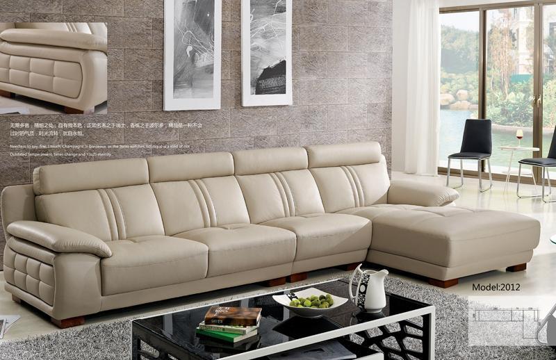 Бесплатная доставка Современный стильный диван, американский европейский дизайн l образный скот кожаный диван, диван 2012
