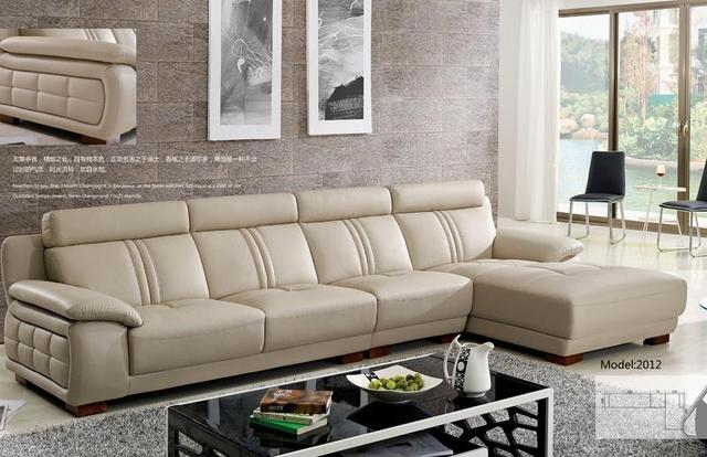 Free Shipping Modern Style Sofa, American European Design L Shaped Cattle  Leather Sofa Furniture,