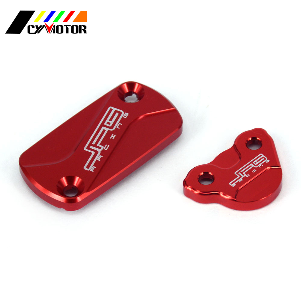 CNC Front Rear Brake Reservoir Fluid Cover For Honda CRF250L 2012 2013 2014 2015