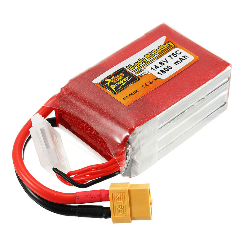 High Quality Rechargeable Lipo Battery ZOP Power 14.8V 1800mAh 75C 4S Lipo Battery XT60 Plug high quality zop power 11 1v 1500mah 25c lipo battery t plug