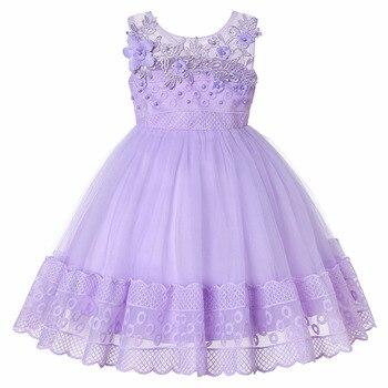a084d8176 Vestido de princesa bordado para niña vestido de fiesta de cumpleaños  elegante vestido de niña de las flores ropa de Navidad para bebé
