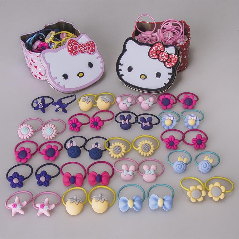 KT rubber band cute children hair ring 40 Pack hair rope baby headdress little girl tie hair