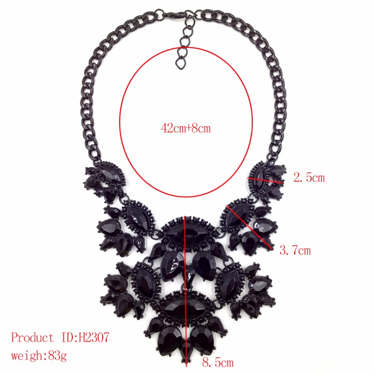 2016fashion torques necklace Europe costume chunky choker statementNecklaces jewelry womenNHJJ0039