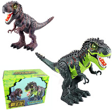 Electronic Tyrannosaurus rex With Sound&Led Light PVC Action Figure Toys Jurassic World Children Dinosaur Model Play Juguetes wiben jurassic tyrannosaurus rex t rex dinosaur toys action figure animal model collection learning